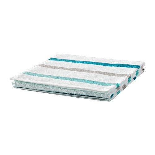 IKEA KVARNAN - toalla de mano, blanco, turquesa - 50x100 cm: Amazon.es: Hogar