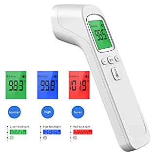 Forehead Thermometer for Adults with Fever Infrared Alarm and Touchless Memory Digital Function Ideal for Baby Indoor and Outdoor Use