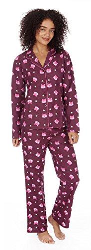 Forever Dreaming Mujer Impreso cepillado franela pijama Rosa