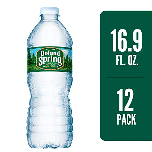 POLAND SPRING 100% Natural Spring Water, 16.9-ounce plastic bottles (Pack of 12) ()