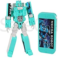 SaleOn™ 2in1 Robot to Phone Deformation Electronic Cell Phone Transformation Robot Phone Model Action Figures with Music Education Toys for Children (Assorted-Colors) - 1230