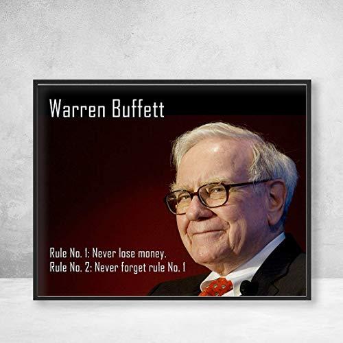 Warren Buffet Rules of Investing Poster Print Wall Art Decor Handmade (Never Lose Money)]()