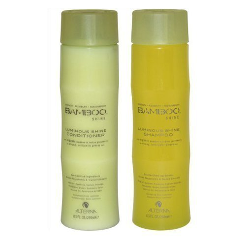 Bamboo Hair Shampoo - Bamboo Shine Luminous Shampoo and Conditioner Set, 8.5-Ounce
