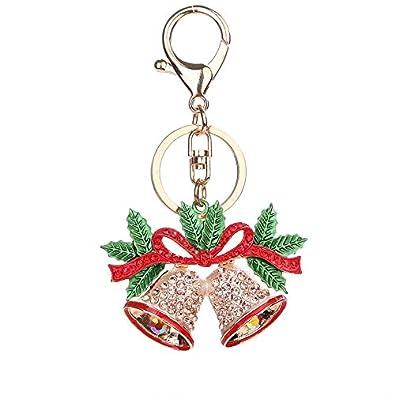 Campana de Navidad Llavero Delicadas Mujeres Rhinestone ...