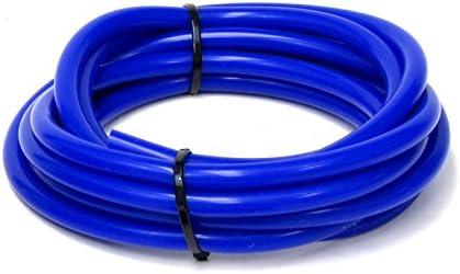 HPS HTSVH35-BLUEx10 Blue 10 Length High Temperature Silicone Vacuum Tubing Hose 60 Psi Maximum Pressure, 3.5mm Id