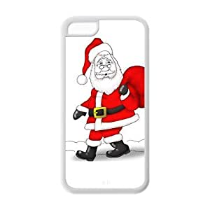 LJF phone case Custom Christmas Gift and Santa Claus Design TPU Case Protector For iphone 4/4s