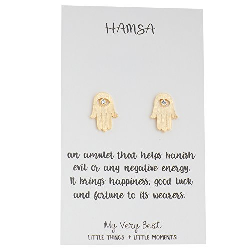 My Very Best Hamsa Hand Stud Earrings (Gold Plated - Fatima Earrings