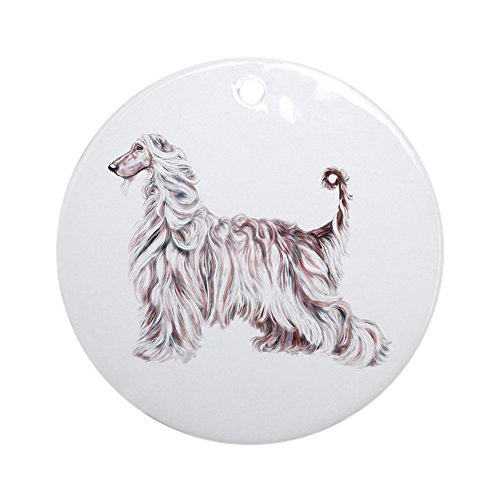 CafePress - Afghan Hound Elegance Ornament (Round) - Round Holiday Christmas Ornament