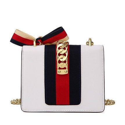Women for Shoulder Messenger Satchel Classic Wide Handbags Ribbons White Designer Tote Crossbody Bag q6zxtpnx