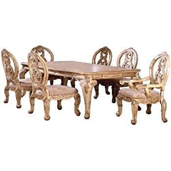 expandable furniture. Furniture Of America Victoire 7-Piece French Style Formal Dining Table Set With 20- Expandable