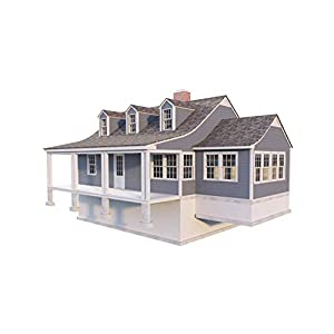 Best Epic Trends 41O4Rvc8DUL._SS300_ 2 Story Farmhouse Plans - DIY 3 Bedroom Country House Farm Home 1620 sq/ft NEW