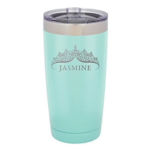 Froolu Monogrammed Artic Tumbler - Mint Personalized Laser Engraved Tumbler - Hydro Travel Cup Flask]()