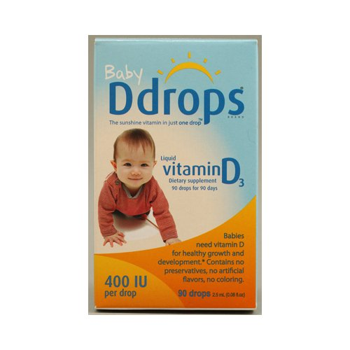 D капли жидкого витамина D3 Baby - 400 МЕ - 0,08 жидких унций