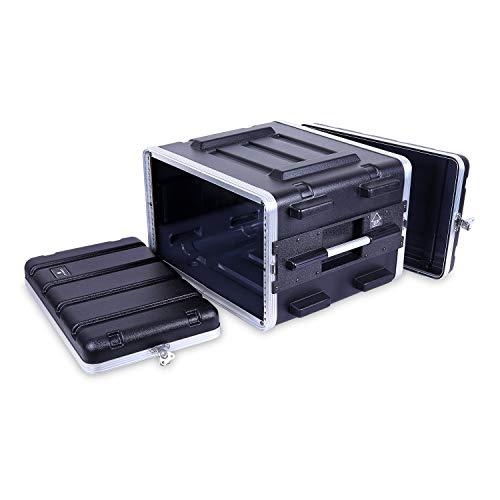 "6U Rack Case, Strong Molded with Heavy Duty Hardware, Standard 19.25"" Depth(CRA8606U) ()"