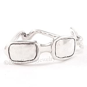 3D SUNGLASSES Beach Ocean SUN Glasses Bracelet Charm Pendant 925 STERLING SILVER Jewelry Making Supply Pendant Bracelet DIY Crafting by Wholesale Charms
