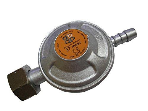 37 mbar Butane Gas Bottle Regulator 1/2 BSP Connection - Fits Calor Screw Bottle Bradas