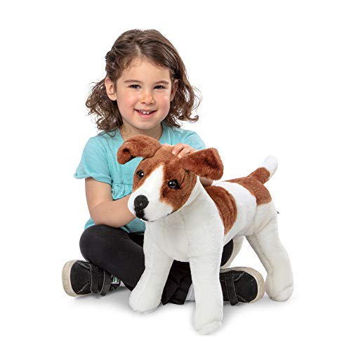 Melissa & Doug Giant Jack Russell Terrier - Lifelike Stuffed Animal Dog (over 12 inches tall)