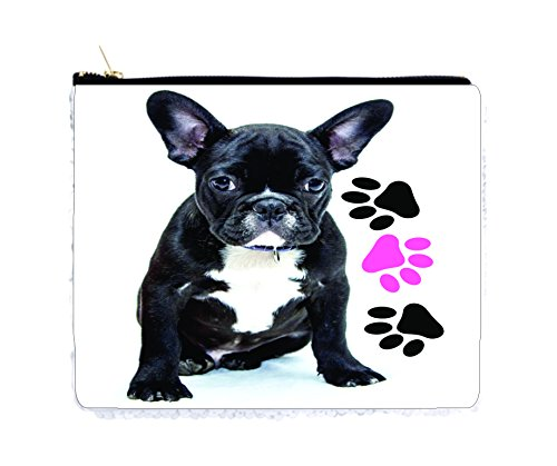 Dog Paws White Case - French Bulldog Puppy and Pawprints - Double Sided 6.5