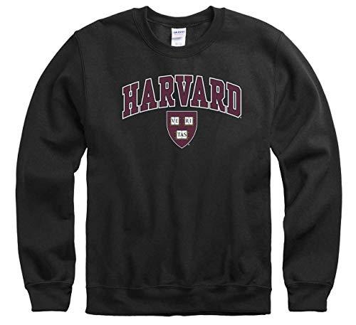 - Campus Colors Harvard Crimson Arch & Logo Gameday Crewneck Sweatshirt - Black, X-Large