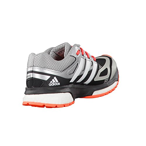 Adidas Response Boost Techfit Junior B26540 - Zapatillas de deporte (talla 38 2/3), color plateado core black/ftwr white/solar red