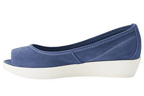 Sandalette von Best Connections Veloursleder Blau
