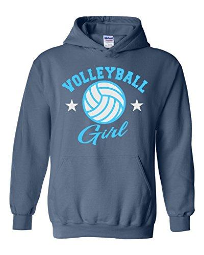 Acacia Plush Volleyball Girl Unisex Hoodie Sweatshirt Medium Indigo Blue Indigo Womens Plush