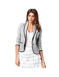 Tonsee® Women's Slim Single Button Blazer Short Turndown Collar Jacket Coat