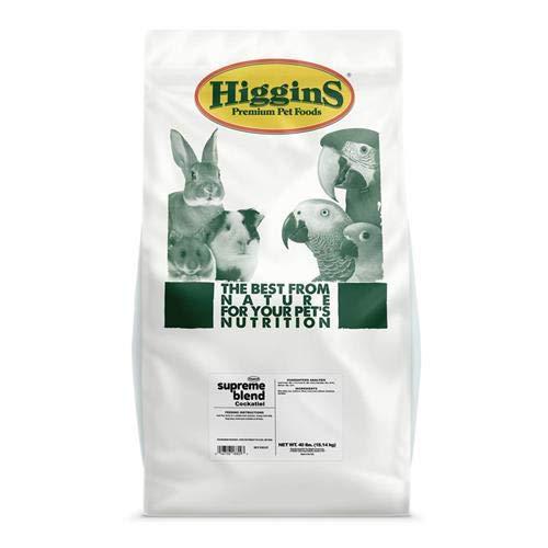 Higgins 466525 Supreme Cockatiel Seed Mix-50 Lb Bag (1 Pack), One Size by Higgins