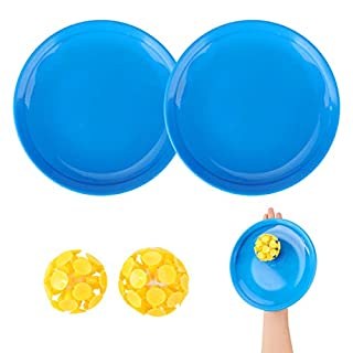 EVERICH TOY Novelty Toss and Catch Ball Game Set-Paddle Ball Game for Kids- 2 Paddles and 2 Suction Cup Balls,1 Carry Bag