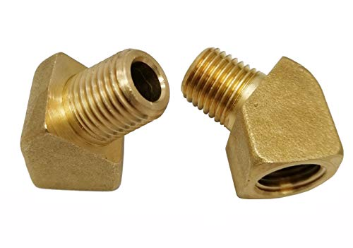 Brass Pipe Fitting, 45 Degree Brass Forging Street Elbow, 1/4