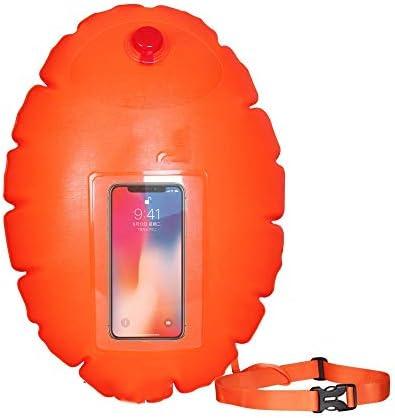 水泳安全フロート、高速充電およびクイックブリードノズル/アジャスタブルベルトオープンウォータースイムブイ、携帯電話肥厚屋外浮選デバイス