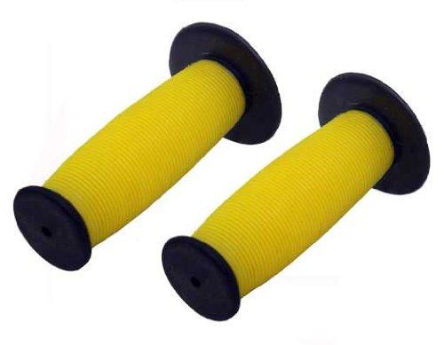 Boo Mushroom - Mushroom Grips Black/yellow. Bike grips, bicycle grips, bmx grips, lowrider grips, beach cruiser grips, mountain bike grips
