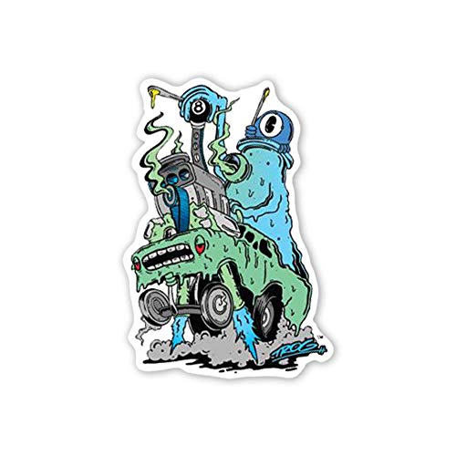 (IT'S A SKIN TROG Dab Racer. Vinyl Sticker Decal Weed Dab Marijuana for Laptop Tumbler Car Notebook Window or Wall Comic Character Artist Cannabis Pot)