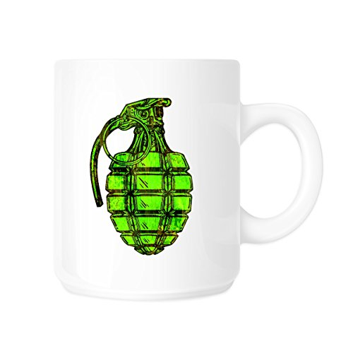 Dripping Grenade Snowboard Lime Green 11oz Coffee (Luna Snowboard)