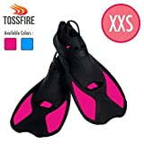 TOSSFIRE Snorkeling Fins for Kids Woman size XXS