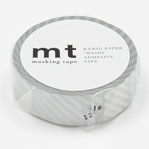 MT Washi Masking Tape Stripe Silver (MT01D146)