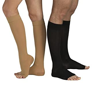 23-32 mmHg MEDICAL COMPRESSION SOCKS with Open Toe, FIRM Grade Class II, Knee High Support Stockings without Toecap (S (Body height 62.2-66.9 inch), Beige) by Tonus Elast
