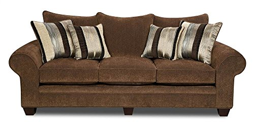 Upholstered Sofa in Chocolate