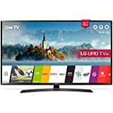 LG 43UJ634 43 UHD 4K Ultra Slim Multi-System Smart Wi-Fi LED TV 110-240V with Free HDMI Cable, Black