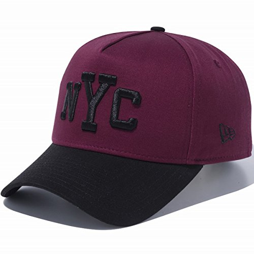 New Era ニューエラ 940 スナップバック キャップ エーフレームトラッカー ニューヨークシティ マルーン ブラック ブラック 11474875