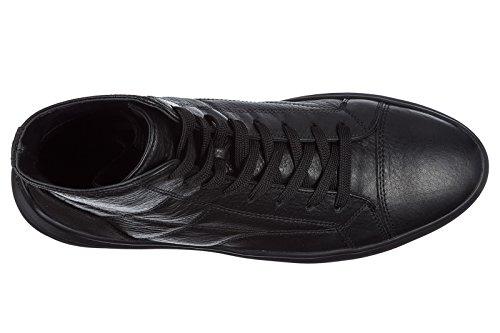 Hogan Herresko Herre Lædersko Høje Sneakers H341 Sort vvRLGQX2B4