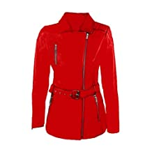 Sexy Ladies Women Real Leather Slim fit Winter Jacket Coat Stylish - (JAC2-BLK)