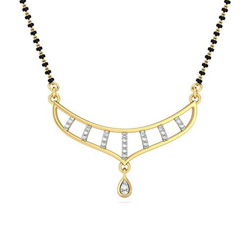 14K Or jaune 0.08CT TW White-diamond (IJ | SI) Mangalsutra