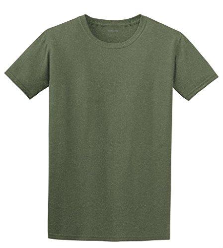 Joe's USA(tm) Lightweight Soft Cotton/Poly T-Shirt-Heather Military (Joe Army T-shirt)