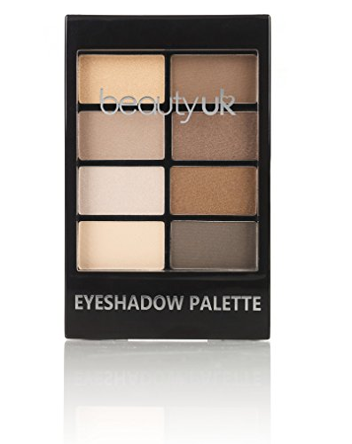 Beauty UK PRO HI-TECH Maximum Intensity and Long-Lasting Formula - Professional Eyeshadow Palette no.1 for Warm Neutral / Nude Makeup, Natural Beauty