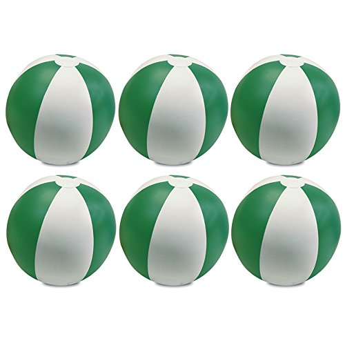 eBuyGB Pack of 6 Inflatable Colour Beach Ball