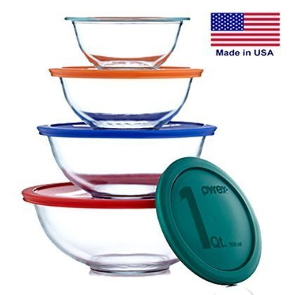 4 X Pyrex Smart Essentials 8 Piece Mixing Bowl (Pyrex Smart Essentials 8 Piece)
