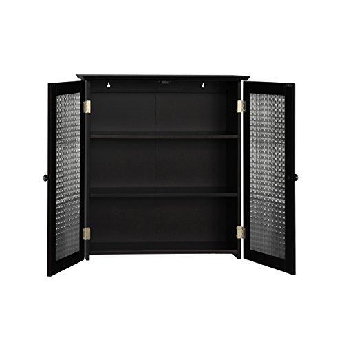Elegant Home Fashions Chesterfield Wall Cabinet with Two Glass Doors by Elegant Home Fashions (Image #1)