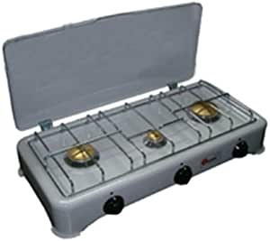 Hornillo Cocina de camping 3 Fuegos Gas Metano Tapa 30 x 60 ...