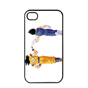 Dragon Ball Manga Comic Slim Vegeta SON GOKU Apple iPhone 4 / 4s TPU Soft Black or White case (Black)